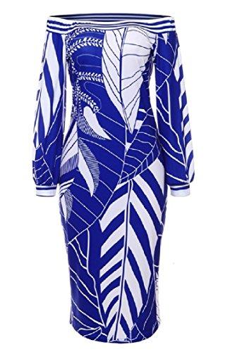 Blue Print Coolred Long Women Empire Top Tunic Waist Sleeved Strapless Dress 6TqAPw