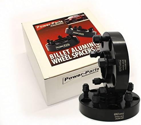 PAAR 25mm pro Seite // 50 pro Achse Spurplatten Spurverbreiterung set 2 Stk mit Mittelzentrierung und F/ührungslippe mit Gutachten BLACK 9//16