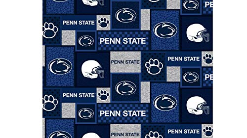 Penn State Fleece Blanket Fabric with New Patch Design-Sold by The Yard ()