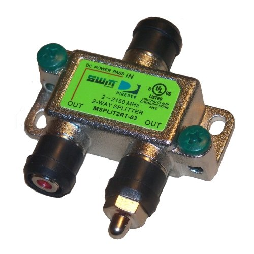 - DirecTv MSPLIT2R1 Approved Zinwell 2-Way Wide Band SWM Splitter