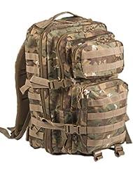 Mil-Tec Military Army Patrol Molle Assault Pack Tactical Combat Rucksack Backpack Bag 36L Arid Woodland Camo