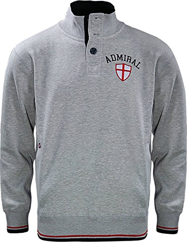 Admiral 100's Collection British 1/4 Zip Pullover Jacket, Gray, Adult Large