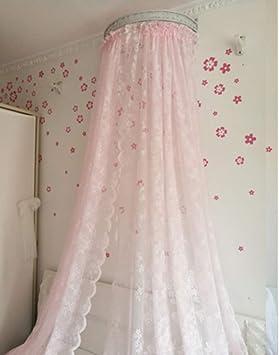 para la decoraci/ón del Dormitorio del hogar Pink Feg Cortina de Cama con Dosel de mosquitera de poli/éster Transpirable Estilo Princesa de Encaje