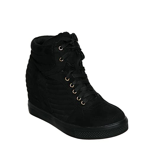 Amazon.com | Pl Hi-top Wedge Lace-up Sneaker | Fashion Sneakers