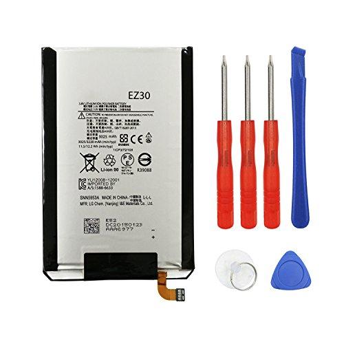 E-yiiviil Rechargeable Li-Polymer EZ30 SNN5953A Battery for Motorola XT1103 XT1115 XT1100 Google Nexus 6 with Free Tool