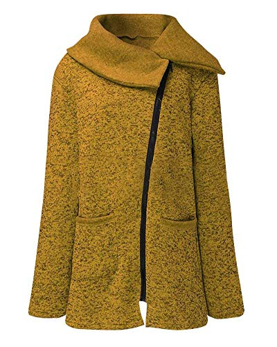 Camisas Largo Primavera Casuales Vintage Clásico Outerwear con Mujeres Mujer Cremallera Color Chaqueta Abrigo Otoño Manga Elegantes Moda Sólido Chaqueta zqx5n6P