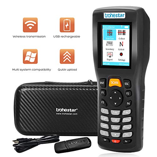 Trohestar Wireless Barcode Scanner with Charging Cradle 3-in-1 ...