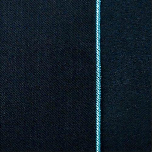 Black Navy Cotton Japanese Selvedge Bull Denim, Fabric by The (Japanese Denim Fabric)