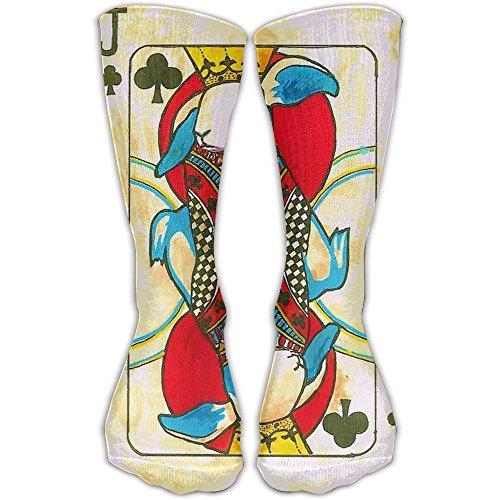 Retro Poker Designed Crew Socks Funny Compression Stockings Casual Dress Socks For Men Women