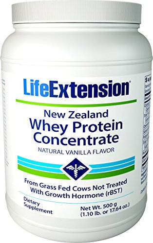 Life Extension New Zealand Whey Protein, Natural Vanilla, 500 (Life Whey Protein)