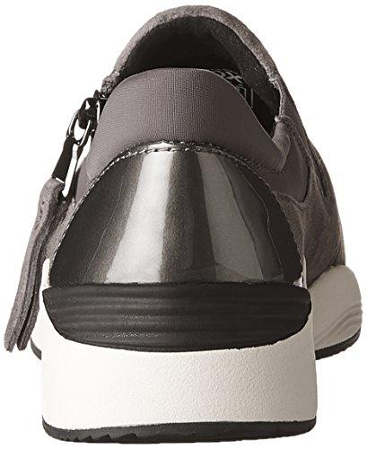 Geox Women's D Omaya a Low-Top Sneakers, 4 Dark Grey