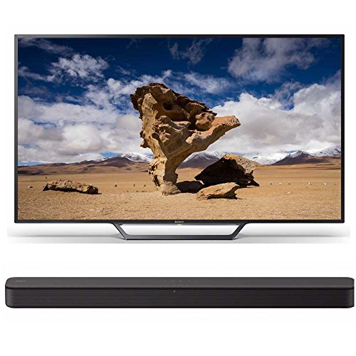 Sony 48-Inch 1080p Smart LED TV KDL48W650D with (HT-S100F) S100F 2.0ch Soundbar with Integrated Tweeter