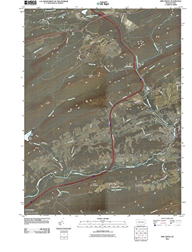 Pennsylvania Maps | 2010 Pine Grove, PA USGS Historical Topographic Map | Cartography Wall Art | 44in x ()