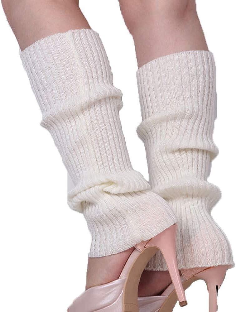 Unisex Thigh High Stretch Knit Leg Warmers Ribbed Knit Dance Sports Leg Warmers