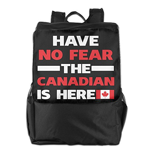 ZHONGRANINC Have No Fear The Canadian Is Here Fashion Outdoor Men And Women Travel Backpack Travel - Men Canadian Hot