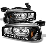For 06-10 Dodge Charger Black 1 Piece DRL LED Headlights w/Corner Turn