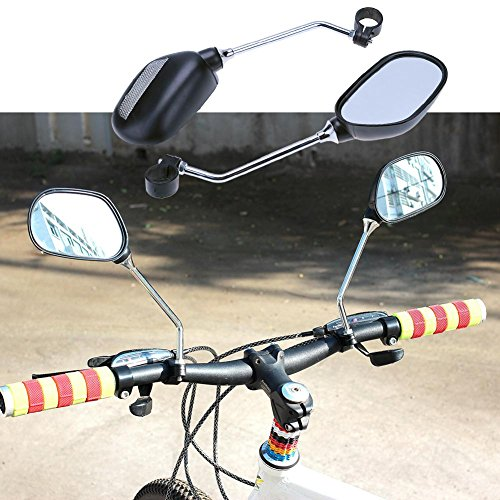 Alloet 1Pair Bicycle Handlebar Mirror Bicycle Mountain Road Bike Rearview by Alloet (Image #1)