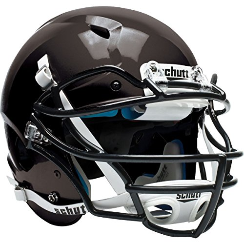 Schutt Sports Vengeance VTD II Football Helmet without Faceguard (Matte Black, Large) - Scarlet Youth Two Piece