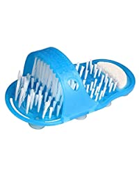 CUTICATE Blue Foot Scrubber Brush Shower Foot Massager Scrubber and Cleaner Dead Skin Cleaner Bathroom Slippers