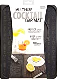 Talisman Designs Multi-Use Cocktail bar Mat, Black