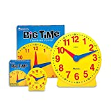 LEARNING RESOURCES BIG TIME CLOCK STUDENT 12 HR 5 (Set of 12)