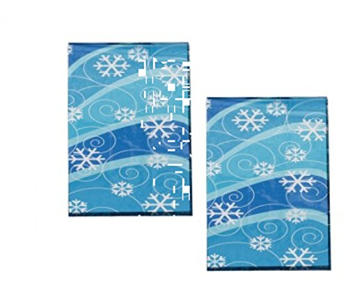 (4 Dozen(48) Winter Snowflake Design Cellophane Gift/Goody Bags)