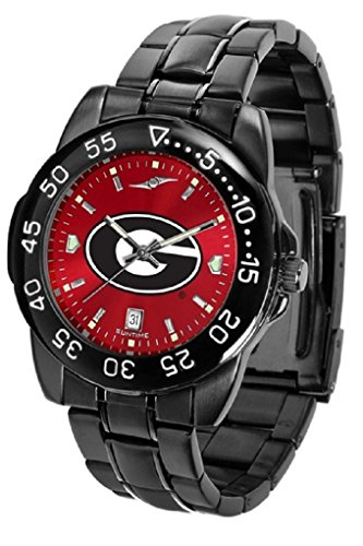 (Collegiate Fantom Sport Anochrome Premium Mens Watch with gunmetal band (Georgia))