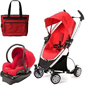 quinny cv080rlrtrv zapp xtra travel system with diaper bag and car seat rebel red. Black Bedroom Furniture Sets. Home Design Ideas