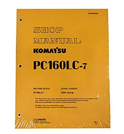 download komatsu pc160lc 7 excavator manual