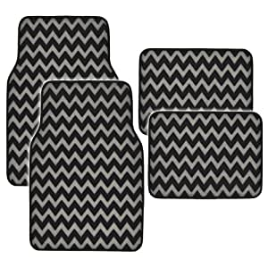 Amazon Com Bdk Mt 959 Gr Gray Black Printed Chevron Floor
