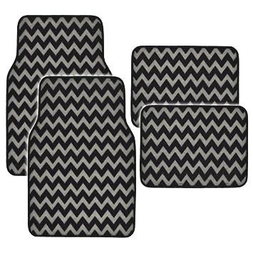 chevron car floor mats.  Mats BDK MT959GR GrayBlack Printed Chevron Floor Mat  4 Piece Throughout Car Mats