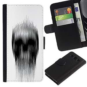 iKiki Tech / Cartera Funda Carcasa - White Black Rain Deep Dark Meaning - Samsung Galaxy S3 I9300