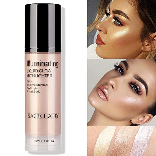 (SACE LADY Highlighter Glow Makeup Shimmer Smooth Intense Luminosity Contour Bronzer Face Body Makeup, Cruelty Free)
