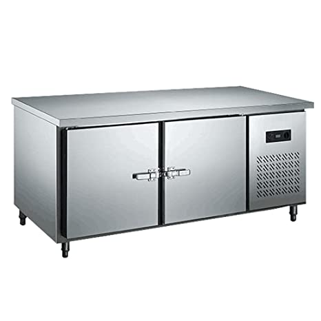 1.8 Meter Stainless Steel Under Counter Worktop Commercial Refrigerator  Cooler Freezer Kitchen Countertop Fridge Machine