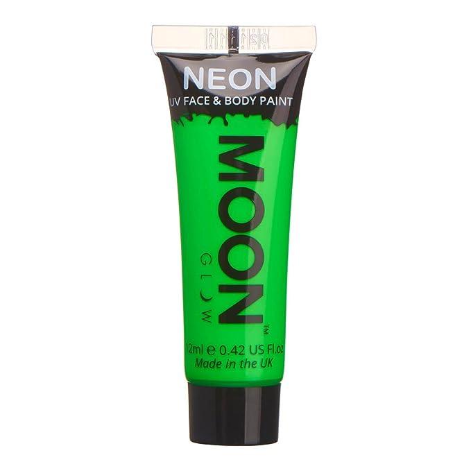 Pintura corporal barata de color verde neón fluorescente
