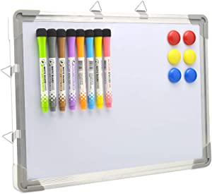 Bethone Dry Erase White Board Hanging Small Magnetic Portable Writing, Drawing & Planning Small Whiteboard for Cubicle Easy to Clean Wall Whiteboard for Office School, Kids, Home