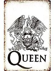 Queen Póster de Pared Metal Creativo Placa Decorativa Cartel de Chapa Placas Vintage Decoración Pared Arte para Carretera Bar Café Tienda