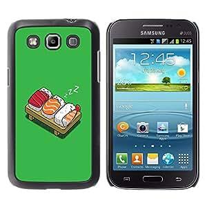 QCASE / Samsung Galaxy Win I8550 I8552 Grand Quattro / sushi de pescado para consumo de arroz japonés del arte gráfico de la historieta / Delgado Negro Plástico caso cubierta Shell Armor Funda Case Cover