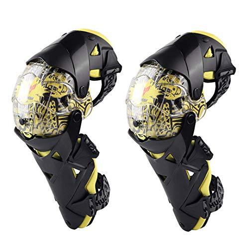 - Motorcycle Knee Pads Motocross Knee PC Brace -End Protective Gears Kneepad Protectors Yellow