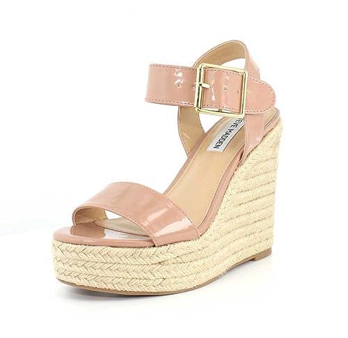 aa28b60e2e1 Steve Madden Womens Santorini Open Toe Casual Platform Sandals