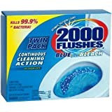 2000 Flushes Blue Plus Bleach Antibacterial Automatic Toilet Bowl Cleaner