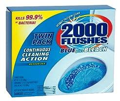 2000 Flushes 208086 Blue Plus Bleach Ant...