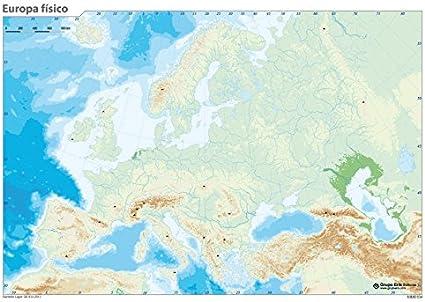 Grupo Erik Editores Mapa Mudo Europa Fisica: Amazon.es: Oficina y papelería