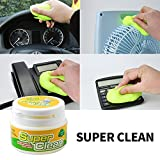 Computer Laptop Phone Car Cleaner Glue Gum, Keyboard Magic Gel Cleaner Clean Dust Putty Germ (Lemon Yellow)