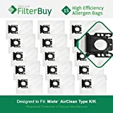 15 - Miele KK Vacuum Bags, Miele Part # 05588951. Designed by FilterBuy to replace Miele AirClean KK Vacuum Dust Bags