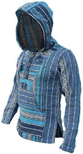 a rayas Mix étnico Little Baja capucha Turquoise con Sudadera Kathhmandu multicolor estilo algodón diseño de 6vPxgUqA