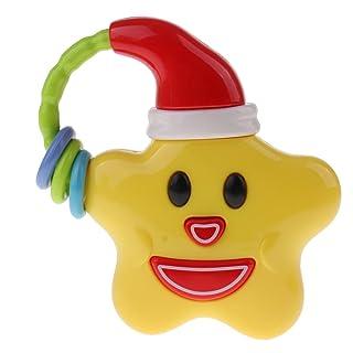 Sharplace Giocattolo Musicale Sonagli Handbell Campanello Passeggino Culla Neonati Sviluppo Plastica Regale Natale - Stella
