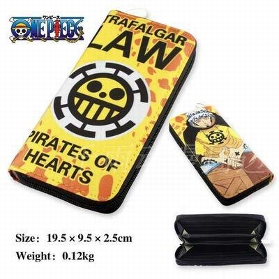 Everyday Better Life Anime One Piece Trafalgar Law Pictures Designed Men's Bifold Long Wallet Purse