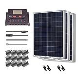 Renogy 300 Watt 12 Volt Polycrystalline Solar Starter Kit with 30A PWM Controller - LCD Display