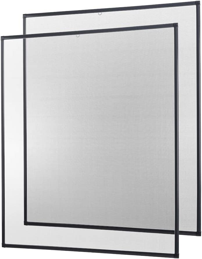 wei/ß braun anthrazit 120 x 140 cm 2er SET Insektenschutz Fliegengitter Fenster Alurahmen Basic